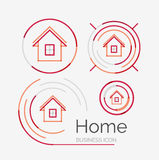Thin line neat design logo set, home idea Royalty Free Stock Image