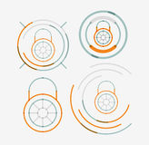 Thin line neat design logo set, lock concepts Stock Photography