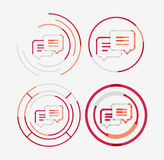 Thin line neat design logo set, messages concept Stock Image