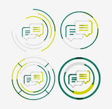 Thin line neat design logo set, messages concept Stock Photography