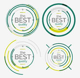 Thin line neat design logo set, premium quality Royalty Free Stock Photography