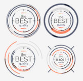 Thin line neat design logo set, premium quality Royalty Free Stock Images