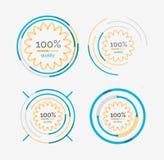 Thin line neat design logo set, premium quality Royalty Free Stock Photography