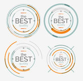 Thin line neat logo set, premium quality stamps Royalty Free Stock Photos