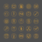 Thin line office icons set Stock Photography