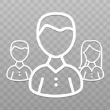 Thin line People icon. Business people team on transparent background. Eps10 Vector stock illustration