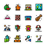 Thin line Picnic icons set, vector illustration Stock Images