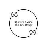 Thin line quotation mark Royalty Free Stock Images