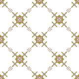 Thin line seamless pattern textile design Geometric vector ornament Minimalism Royalty Free Stock Images