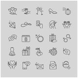 Thin line set - international womens day icons, March 8. For your design Stock Photography