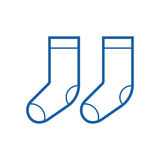 Thin Line Socks Icon Royalty Free Stock Photography