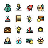 Thin line Start up icons set, vector illustration Stock Photo
