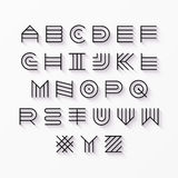 Thin line style font Stock Images