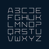 Thin line style font Royalty Free Stock Image