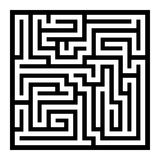 Thin Line Style Maze on White Background. Vector Royalty Free Stock Images