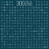 300 thin line universal icons set Royalty Free Stock Photography