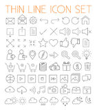 Thin Line Vector Icons Stock Images