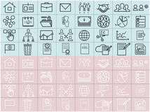 Thin line vector icons set Royalty Free Stock Photography
