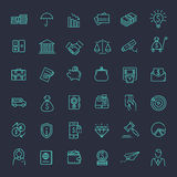 Thin line web icon set - money, finance, payments. Outline vector web icon set - money, finance, payments Stock Images