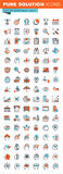 Thin line web icons for business, marketing and finance Royalty Free Stock Photo
