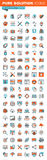 Thin line web icons for design and development Stock Photography