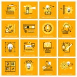 Thin line web icons of design services and tools Stock Images