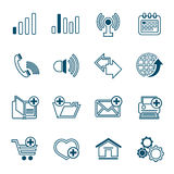 Thin line web icons set Stock Photos