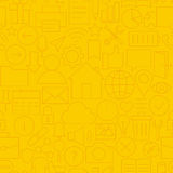 Thin Line Website Mobile User Interface Seamless Yellow Pattern Stock Photography