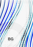 Thin lines wave abstract background Royalty Free Stock Photo