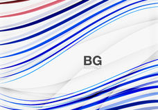 Thin lines wave abstract background. Vector template background for workflow layout, diagram, number options or web design Stock Photo