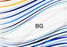 Thin lines wave abstract background Royalty Free Stock Photography