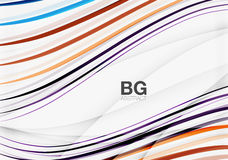 Thin lines wave abstract background Stock Images