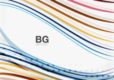 Thin lines wave abstract background Royalty Free Stock Images