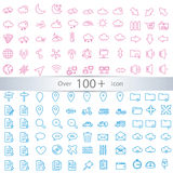 Thin lines web icons set Stock Image