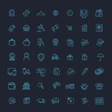 Thin lines web icons set - E-commerce, shopping Royalty Free Stock Image