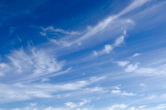 Thin long clouds Stock Photography
