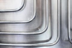Thin metal tubes curved at right angles. Royalty Free Stock Photography