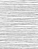 Thin modern wiggly black and white paintbrush stripes Stock Images