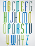 Thin narrow bright font, uppercase letters Royalty Free Stock Image