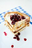 Thin pancakes on a plate Royalty Free Stock Image