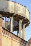 Thin pillars of water tank, Crespi on Adda Stock Images
