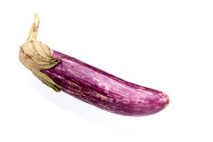 Thin Purple Aubergine Royalty Free Stock Photography