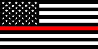 Free Thin Red Line Flag Royalty Free Stock Photo - 137248115