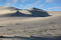 A thin ridge of dunes and deep shadows Royalty Free Stock Photo