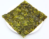 Thin Seaweed Sheet Fried in Olive Oil Royalty Free Stock Images