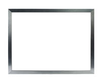 Thin silver metal frame Stock Photography