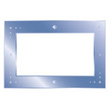 Thin silver metal frame Stock Image