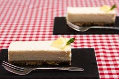 Lemon cheesecake Stock Image