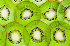 Thin sliced ​​kiwi fruit Stock Photography