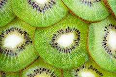 Thin sliced ​​kiwi fruit Stock Photos